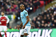 Fernandinho (25) of Manchester City during the EFL Cup Final match between Arsenal and Manchester City at Wembley Stadium, London, England on 25 February 2018. Picture by Graham Hunt.