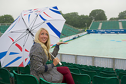 LIVERPOOL, ENGLAND - Thursday, June 21, 2012: Nicky Cross from Liverpool waits for play to start as rain delays the opening day of the Medicash Liverpool International Tennis Tournament at Calderstones Park. (Pic by David Rawcliffe/Propaganda)