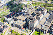 Nederland, Noord-Holland, Amsterdam, 09-04-2014;  Holendrecht, Academisch Medisch Centrum AMC in Amsterdam Zuidoost. Universiteitsziekenhuis en poliklinieken, faculteit geneeskunde.<br /> AMC Academic Medical Center in Amsterdam; university hospital and outpatient clinics, faculty of medicine.<br /> luchtfoto (toeslag op standard tarieven);<br /> aerial photo (additional fee required);<br /> copyright foto/photo Siebe Swart.