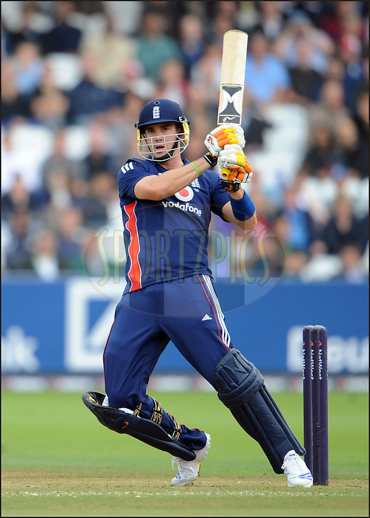 Kevin Pietersen hits a Morne Morkel delivery for runs during the fourth one day international on the 31st of August 2008 at Lord's..England v South Africa.Photo by Philip Brown.www.philipbrownphotos.com