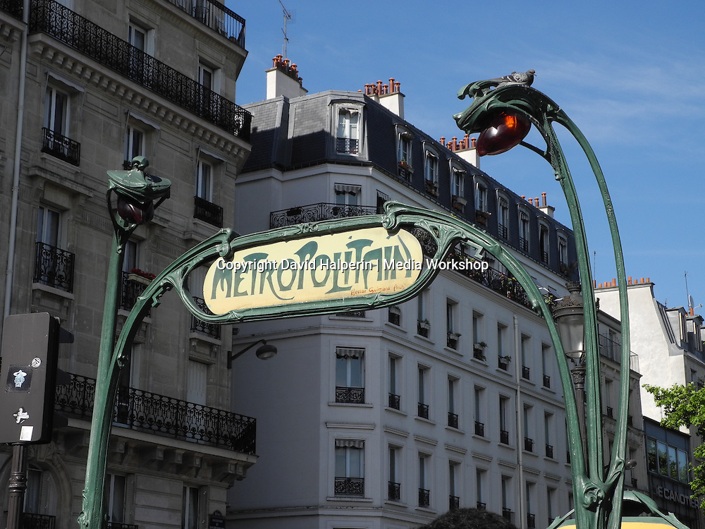 Art Nouveau Metro entrance — Anvers.