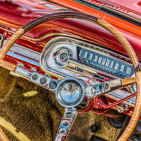 Interior of classic car from 1960's