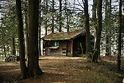 Remote hermitage cabin.