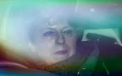 © Licensed to London News Pictures. 27/03/2019. London, UK.  British Prime Minister THERESA MAY is seen arriving at the Houses of Parliament in London. MPs will hold a series of indicative votes on different Brexit options this evening. Photo credit: Ben Cawthra/LNP