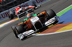27.06.2011, Valencia-Street-Circuit, Silverstone, ESP, Großer Preis von Europa, Valencia, RACE 08, im Bild  Adrian Sutil (GER), Force India Formula One Team .       EXPA Pictures © 2011, PhotoCredit: EXPA/ nph/  Dieter Mathis        ****** only for AUT, POL & SLO ******