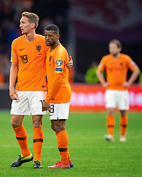 24-03-2019 NED: UEFA Euro 2020 qualification Netherlands - Germany, Amsterdam<br /> Netherlands lost the match 3-2 in the last minute / Luuk de Jong #19 of The Netherlands, Georginio Wijnaldum #8 of The Netherlands