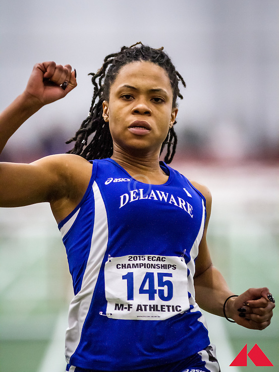 women's 60 Hurdles, semi 2, Delaware, LaToya James