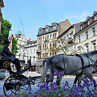 Horse-drawn Carriage Ride in Baden-Baden, Germany <br />
