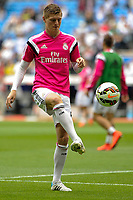 Real Madrid´s Toni Kroos during 2014-15 La Liga match between Real Madrid and Almeria at Santiago Bernabeu stadium in Madrid, Spain. April 29, 2015. (ALTERPHOTOS/Luis Fernandez)