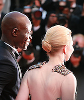 Djimon Hounsou, Cate Blanchett, at the the How to Train Your Dragon 2 gala screening red carpet at the 67th Cannes Film Festival France. Friday 16th May 2014 in Cannes Film Festival, France.