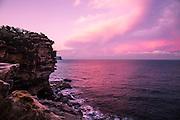 Sunset at Gap Bluf Watsons Bay, Sydney.
