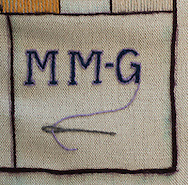 Great Tapestry of Scotland.  Panel Details - Stitching Group Name<br /> picture by Alex Hewitt<br /> alex.hewitt@gmail.com<br /> 07789 871 540