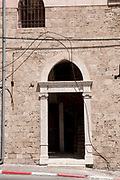 Arched entrance in Old Jaffa on Yefet Street, Israel