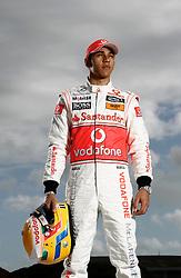JEREZ DE LA FRONTERA, SPAIN - Monday, February 8, 2010: Lewis Hamilton (Vodafone McLaren Mercedes). (Pic by Juergen Tap/Propaganda/Hoch Zwei)