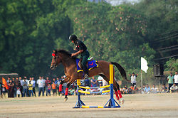 May 30, 2017 - Allahabad, Uttar Pradesh, India - Indian Army's daredevil wing soldier performing their skill during ''Purva UP & MP Sub area Sainya Samaroh-2017'', at Polo Ground in Allahabad on 30-05-2017. (Credit Image: © Prabhat Kumar Verma/Pacific Press via ZUMA Wire)