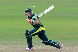 Australia's Alyssa Healy pulls the ball - Photo mandatory by-line: Harry Trump/JMP - Mobile: 07966 386802 - 21/07/15 - SPORT - CRICKET - Women's Ashes - Royal London ODI - England Women v Australia Women - The County Ground, Taunton, England.