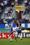 21.08.2002, Olympic Stadium, Helsinki, Finland..Friendly International Match, Finland v Republic of Ireland.Football ballet by Jari Litmanen v Ireland.©Juha Tamminen