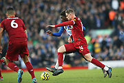Liverpool midfielder Jordan Henderson (14) during the Premier League match between Liverpool and Brighton and Hove Albion at Anfield, Liverpool, England on 30 November 2019.