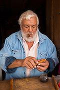 Cigar maker, San Sebastian del Oeste, Mining town near Puerto Vallarta, Jalisco, Mexico