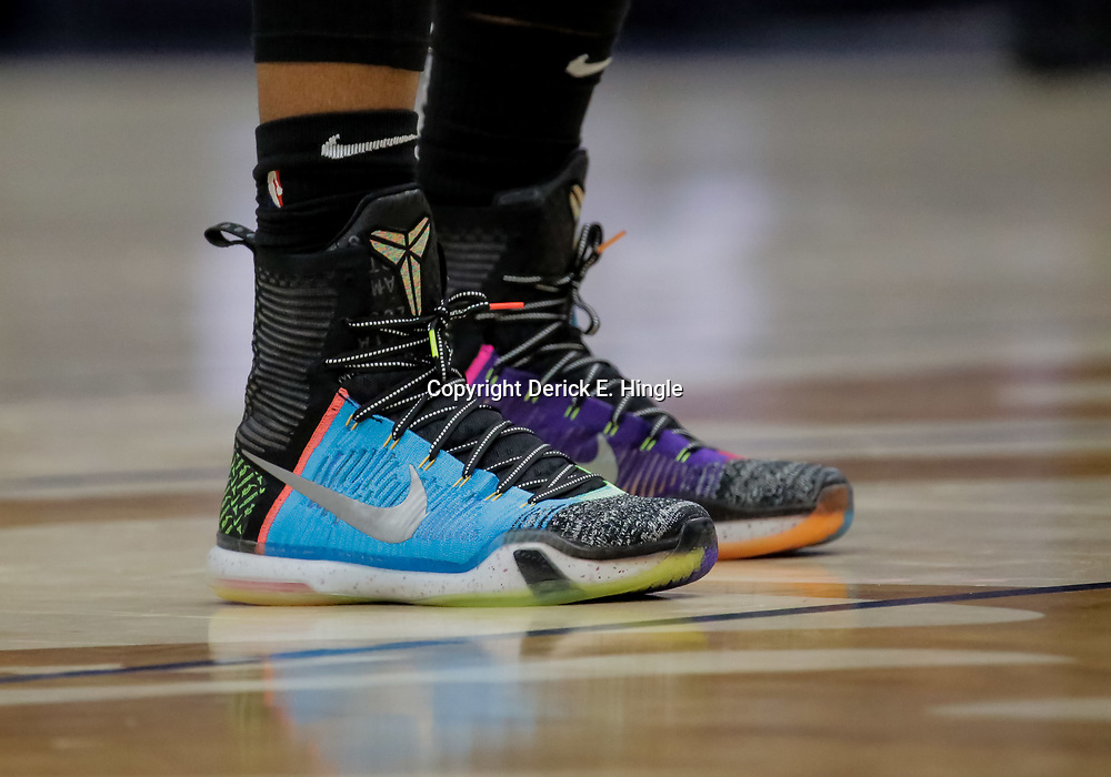 Nov 19, 2018; New Orleans, LA, USA; A detail of shoes worn by San Antonio Spurs guard DeMar DeRozan (10) during the second half against the New Orleans Pelicans at the Smoothie King Center. Mandatory Credit: Derick E. Hingle-USA TODAY Sports