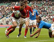 Twickenham, England.  POR's Goncalo FORO,  ITA vs POR match at the London Sevens Rugby, Twickenham Stadium, Sun, 27/05/2007 [Credit Peter Spurrier/ Intersport Images]