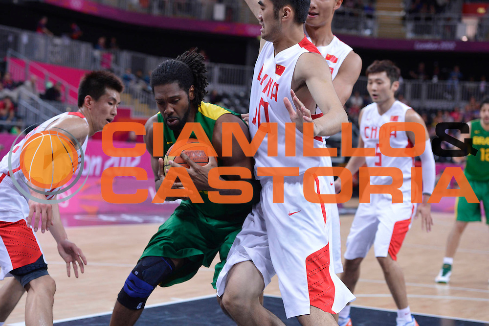 DESCRIZIONE : London Londra Olympic Games Olimpiadi 2012 Men Preliminary Round China Brazil Cina Brasile<br /> GIOCATORE : Nene HILARIO<br /> CATEGORIA : <br /> SQUADRA : Brazil Brasile<br /> EVENTO : Olympic Games Olimpiadi 2012<br /> GARA : China Russia Cina Russia<br /> DATA : 04/08/2012<br /> SPORT : Pallacanestro <br /> AUTORE : Agenzia Ciamillo-Castoria/M.Marchi<br /> Galleria : London Londra Olympic Games Olimpiadi 2012 <br /> Fotonotizia : London Londra Olympic Games Olimpiadi 2012 Men Preliminary Round China Brazil Cina Brasile<br /> Predefinita :