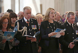 Home Secretary Amber Rudd and the Metropolitan Police Commissioner Sir Bernard Hogan-Howe attend a service to commemorate National Police Memorial Day at St Paul's Cathedral in central London.