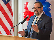 Sam Sarabia comments during a dedication ceremony at Mark White Elementary School, December 13, 2016.