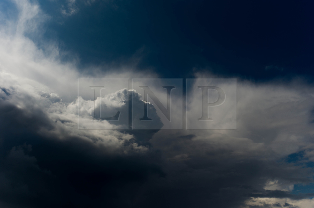 © Licensed to London News Pictures. 21/04/2012..Teesside, England..Unusual cloud formations form over teesside as storm clouds build...Photo credit : Ian Forsyth/LNP