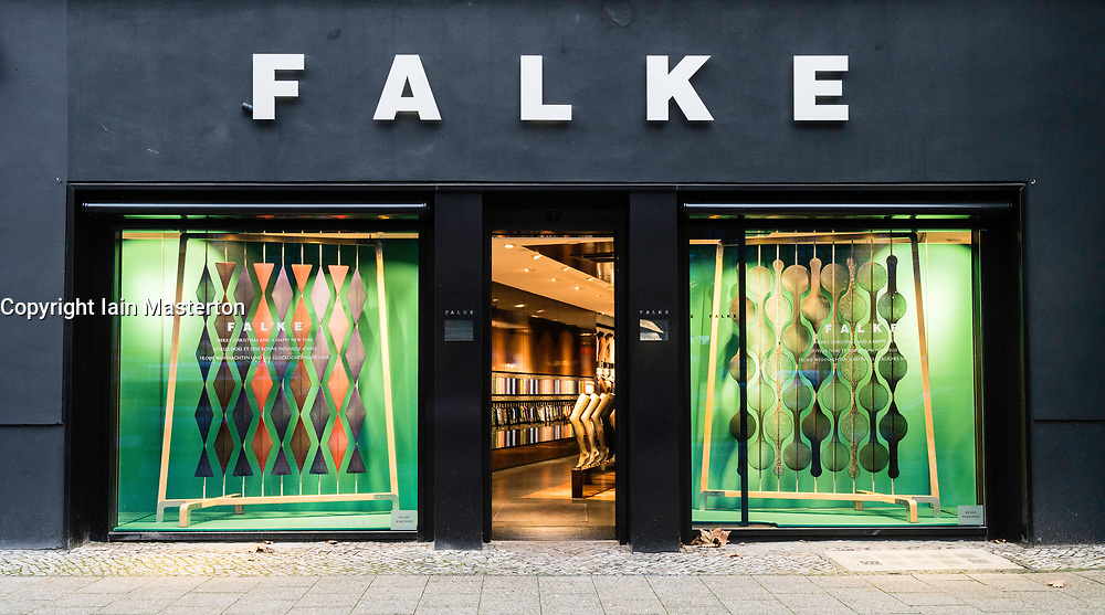 Falke store on famous Kurfurstendamm shopping street in Berlin, Germany.