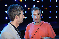 Noel Gallagher talking to Richard Russell