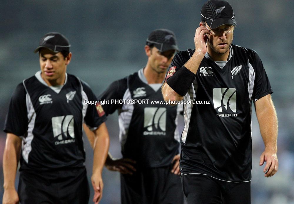 New Zealand captain Daniel Vettori after 5th odi match against india loss the odi series 5-0 during the India vs New Zealand 5th ODI Played at MA Chidambaram Stadium, Chepauk, Chennai , 10 December 2010 - day/night (50-over match)