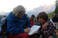 I Suoni delle Dolomiti l'alba con Margherita Hach al rifugio Fuciade 21-07-2007 © foto Daniele Mosna