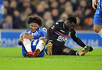 Football - 2017 / 2018 FA Cup - Third Round: Brighton & Hove Albion vs. Crystal Palace<br /> <br /> Izzy Brown of Brighton goes down with a knee injury and had to be substituted, at The Amex.<br /> <br /> COLORSPORT/ANDREW COWIE