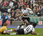 Twickenham, England. Fiji's Leppani NABULIWAQA,  run's on to the  ball, during the FIJI vs AUS match at the London Sevens Rugby, Twickenham Stadium, Sun, 27/05/2007 [Credit Peter Spurrier/ Intersport Images]
