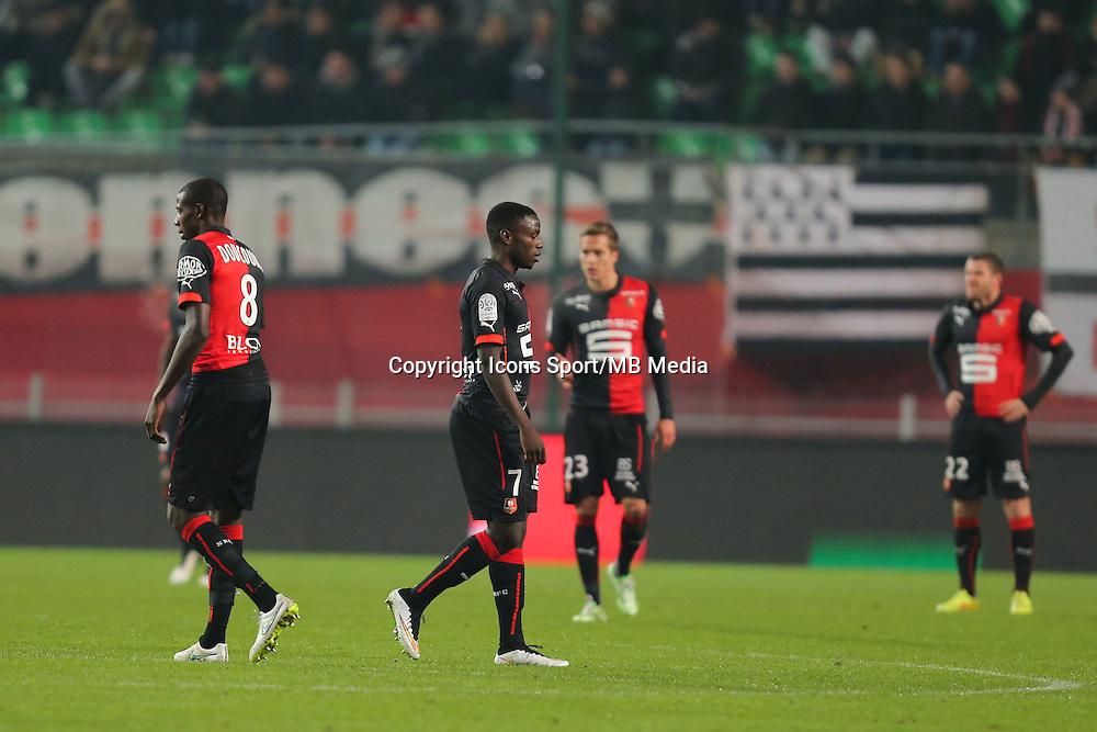 Deception Paul Georges NTEP - 06.12.2014 - Rennes / Montpellier - 17eme journee de Ligue 1 -<br />Photo : Vincent Michel / Icon Sport