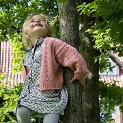 Aarhus, Denmark, June 13th, 2010. Aja in the garden.