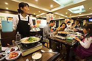 Gwanghwamun area. Nolboo hot pot restaurant.