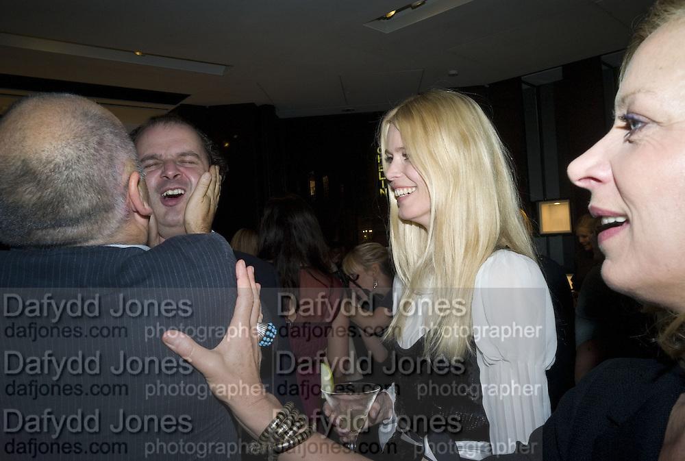 "Sam McKnight, Robbin Derrick and Claudia Schiffer, ""Vogue"" Covers: by Robin Derrick  and  Robin Muir. Chanel. Brompton Rd. London. 17 October 2007. -DO NOT ARCHIVE-© Copyright Photograph by Dafydd Jones. 248 Clapham Rd. London SW9 0PZ. Tel 0207 820 0771. www.dafjones.com."