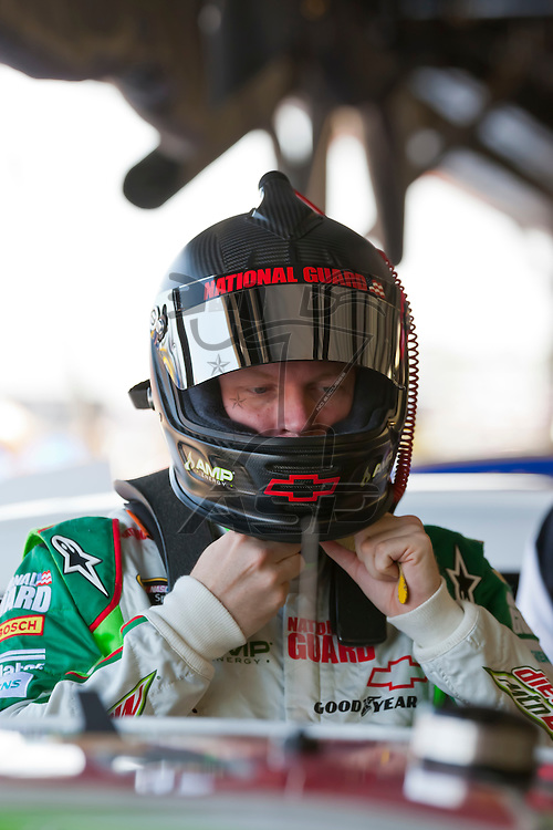 DARLINGTON, SC - MAY 11, 2012:  Dale Earnhardt, Jr. (88) prepars for a practice session for the Bojangles Southern 500 at the Darlington Raceway in Darlington, SC.