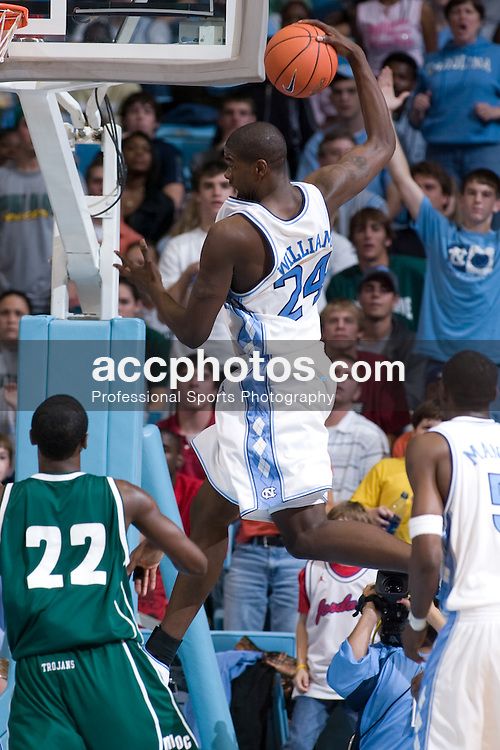 12 November 2004: North Carolina Tar Heels forward Marvin Williams (24) in a 100-69 win over Mount Olive in Chapel Hill, NC