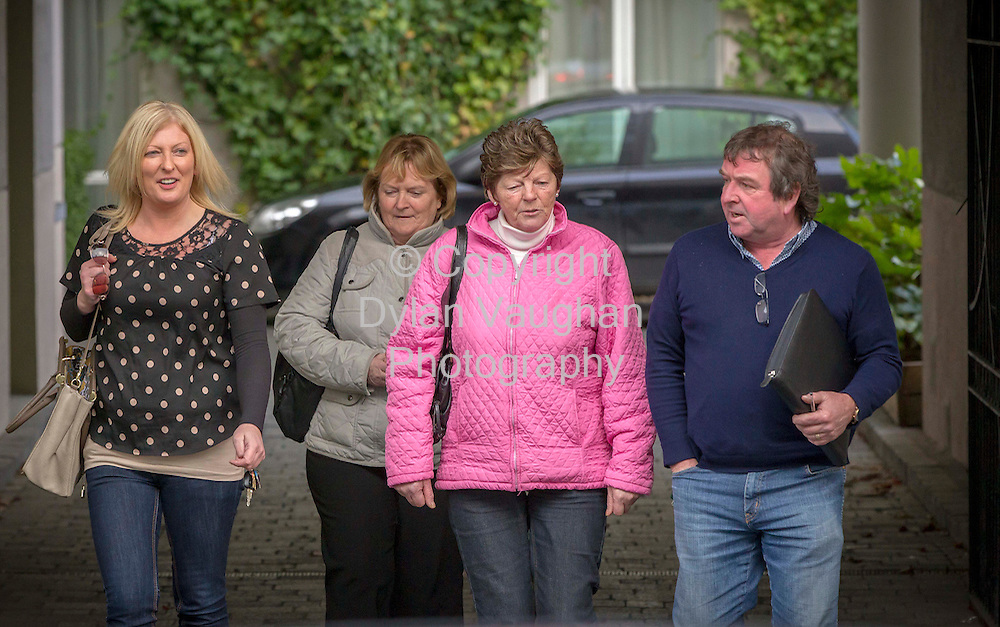 1/11/2012.Pictured at the Employment Appeals Tribunal at the Pemboke Hotel in Kilkenny into the Avondale Nursing Home in Callan was from left Caroline Clifford, Patricia Cahill, Kathleen Purcell and Seamus Dowley..Picture Dylan Vaughan.
