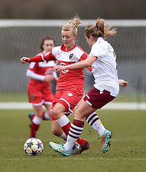 Bristol Academy's Sophie Ingle in action during the pre-season friendly between Bristol Academy Women and Aston Villa Ladies at Stoke Gifford Stadium on 1 March 2015 in Bristol, England - Photo mandatory by-line: Paul Knight/JMP - Mobile: 07966 386802 - 01/03/2015 - SPORT - Football - Bristol - Stoke Gifford Stadium - Bristol Academy Women v Aston Villa Ladies - Pre-season friendly