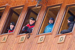 Jury, competition management during Normal Hill Individual Competition at FIS World Cup Ski jumping Ladies Ljubno 2012, on February 11, 2012 in Ljubno ob Savinji, Slovenia. (Photo By Vid Ponikvar / Sportida.com)