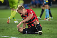 October 08, 2016: Western Sydney Wanderers midfielder Mitch NICHOLS (6) misses a shot at Round 1 of the 2016 Hyundai A-League match, between Western Sydney Wanderers and Sydney FC, played at ANZ Stadium in Sydney. Sydney FC won the game 4-0.