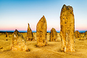 Limestone formations in the Pinnacles Desert. Nambung National Park, Western Australia.