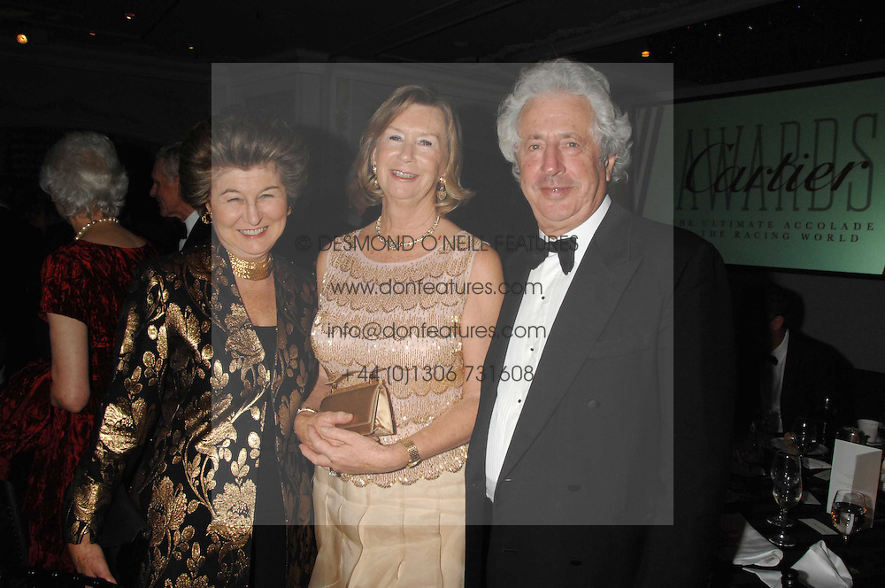 Left to right, LADY SIEFF and SIR MARTYN & LADY ARBIB at the 17th annual Cartier Racing Awards 2007 held at the Four Seasons Hotel, Hamilton Place, London on 14th November 2007.<br /><br />NON EXCLUSIVE - WORLD RIGHTS