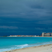 Cancun beach before a storm. Quintana Roo, Mexico.