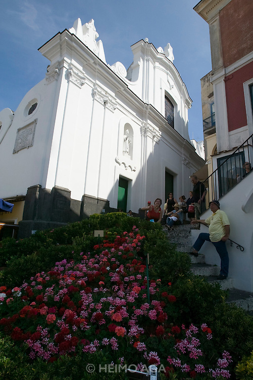 Church near Piazza Umberto I.