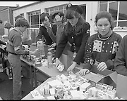 1982<br /> 27.02.1982<br /> 02.27.1982<br /> 27 Feb 1982<br /> Red Cross Food Packs for Poland at Ratra House, Phoenix Park, Dublin.  <br /> Volunteers pack the food into cartons for distribution.
